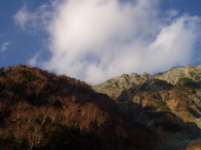 北アルプス-奥穂高岳(上高地~岳沢ヒュッテ~奥穂高岳)H16・11・6~7) 024