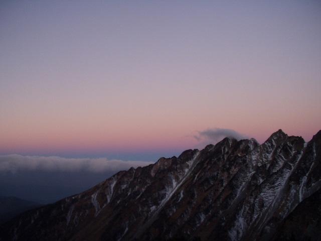 北アルプス-奥穂高岳(上高地~岳沢ヒュッテ~奥穂高岳)H16・11・6~7) 041