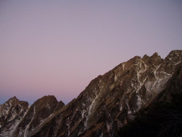 北アルプス-奥穂高岳(上高地~岳沢ヒュッテ~奥穂高岳)H16・11・6~7) 038