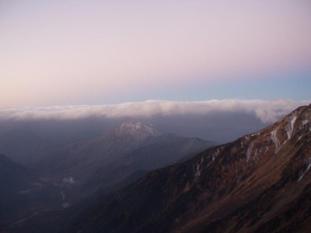 北アルプス-奥穂高岳(上高地~岳沢ヒュッテ~奥穂高岳)H16・11・6~7) 037