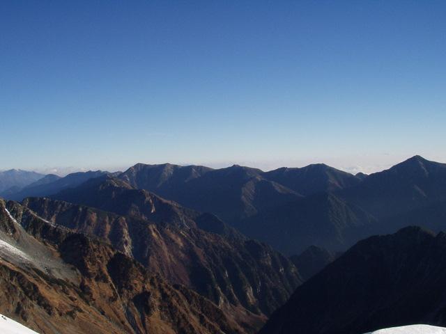 北アルプス-奥穂高岳(上高地~岳沢ヒュッテ~奥穂高岳)H16・11・6~7) 058