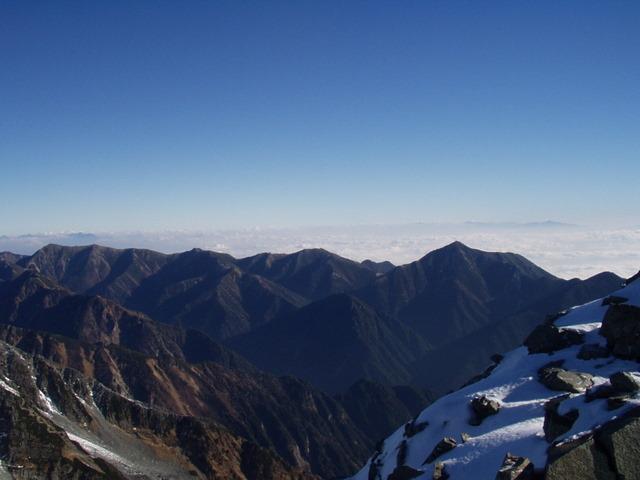 北アルプス-奥穂高岳(上高地~岳沢ヒュッテ~奥穂高岳)H16・11・6~7) 071