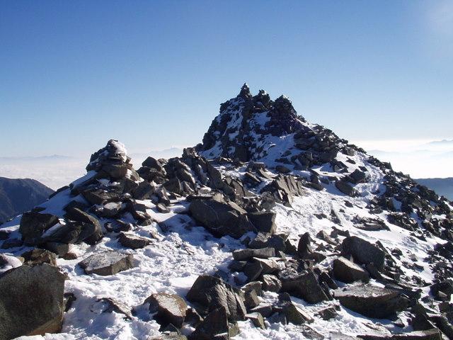 北アルプス-奥穂高岳(上高地~岳沢ヒュッテ~奥穂高岳)H16・11・6~7) 067