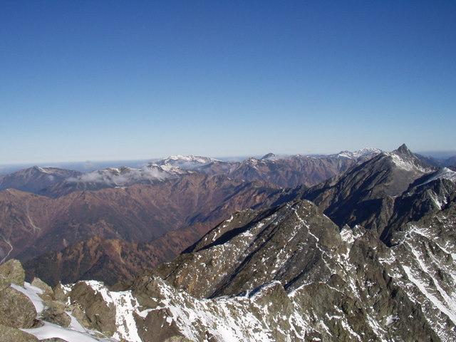北アルプス-奥穂高岳(上高地~岳沢ヒュッテ~奥穂高岳)H16・11・6~7) 078