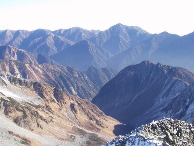 北アルプス-奥穂高岳(上高地~岳沢ヒュッテ~奥穂高岳)H16・11・6~7) 075