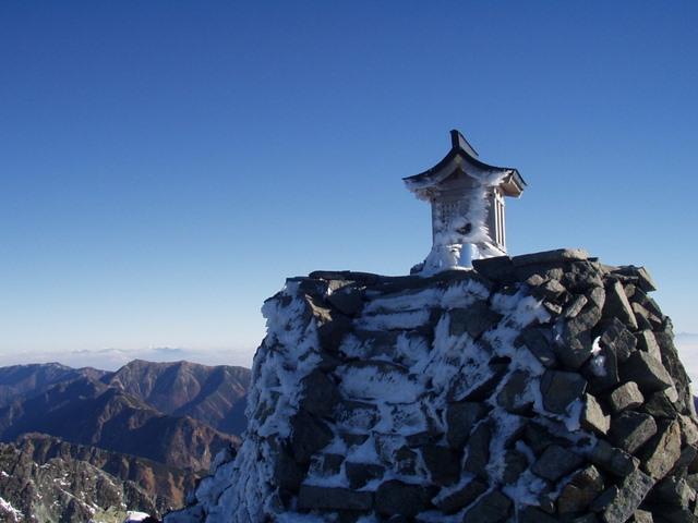 北アルプス-奥穂高岳(上高地~岳沢ヒュッテ~奥穂高岳)H16・11・6~7) 088