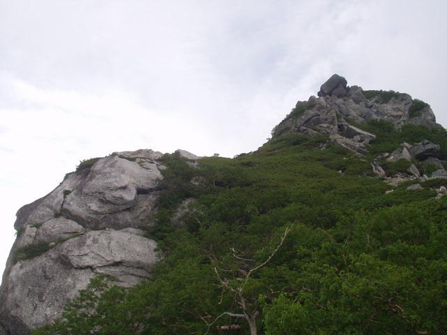 南アルプス-鋸岳縦走(北沢峠~甲斐駒ケ岳~六号石室~第二高点~第一高点~横岳峠~富士川源流~富士見)H17・8・6~7) 033