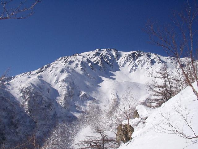 南アルプス-間ノ岳(夜叉神峠~荒川出合~弘法小屋尾根)H17・12・30~H18・1・2 030