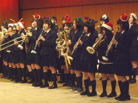 新発田高校ブラスバンド部・クリスマスコンサート2010