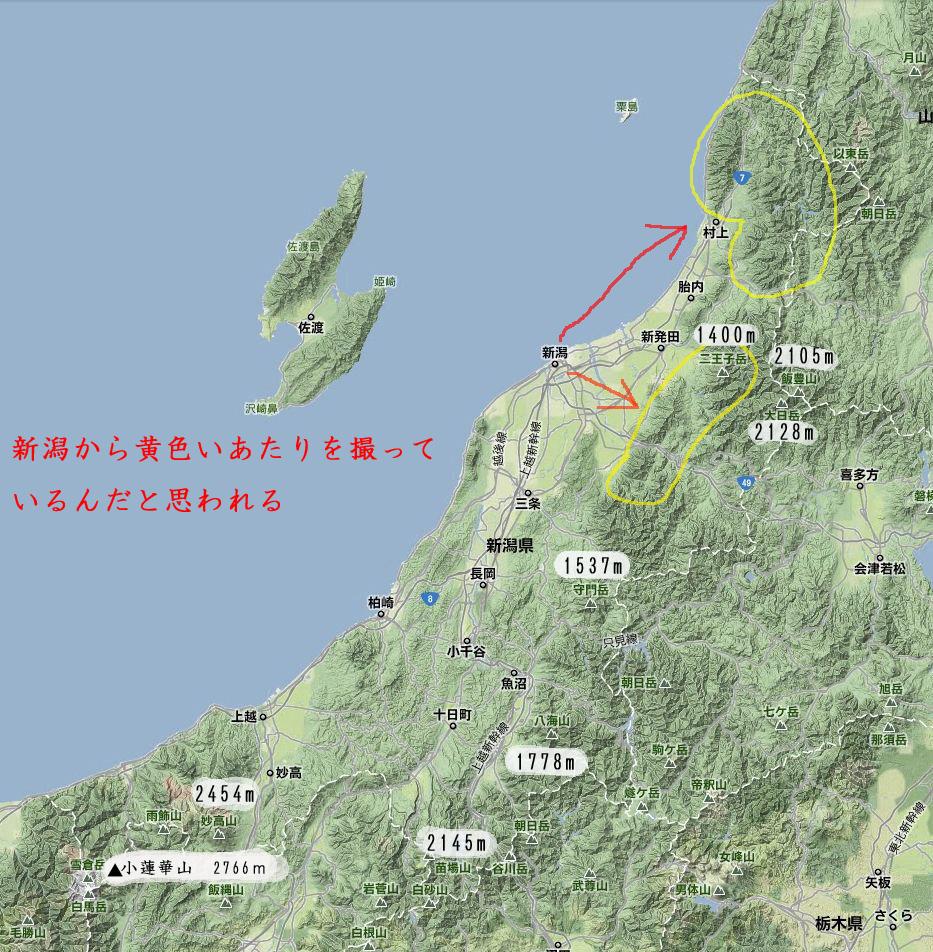 新潟県山岳図ググルF