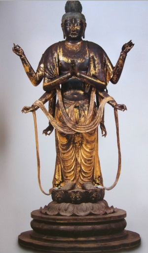 東大寺ミュージアム展示不空羂索観音像