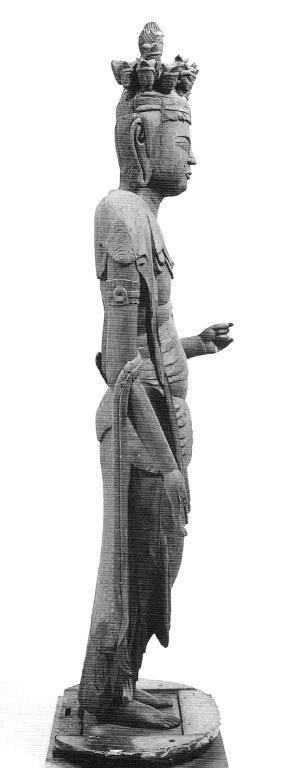 川原観音堂・十一面観音立像 側面