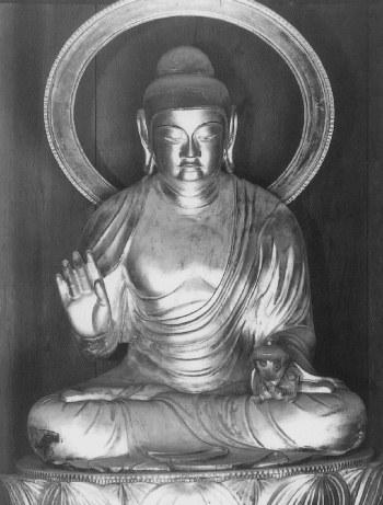延命寺薬師如来坐像(仏像東漸展・図録掲載写真)