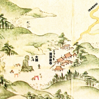 江島道見取絵図:大仏周辺