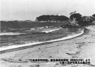 江島道見取絵図:東京美術版解説小動の松