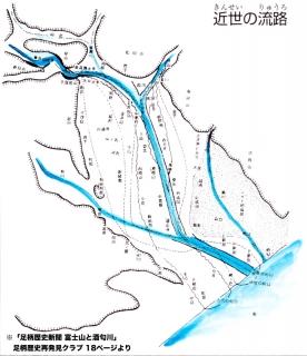 「足柄歴史新聞 富士山と酒匂川」近世の流路