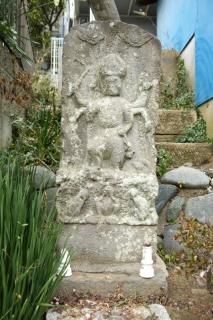 江島道:諏訪神社山車小屋脇の庚申塔