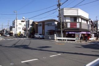 江島道:長谷観音前交差点
