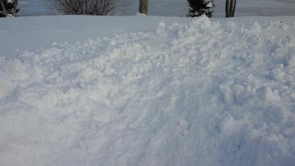 雪捨て場③
