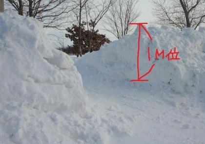 雪捨て場①