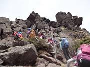 三ツ岳Ⅲ峰への登り-s