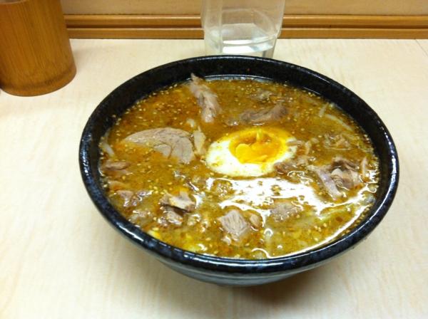 ラーメン二郎 京成大久保店 つけ麺 スープ