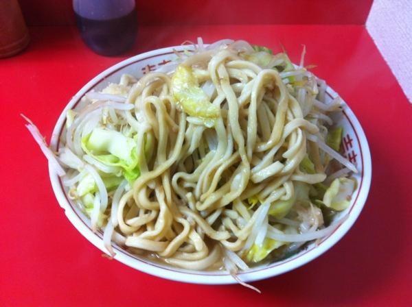 ラーメン二郎 仙台店 小ラーメン ニンニクアブラ 麺