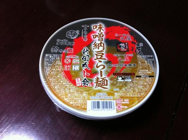 秋田成ト会監修 味噌納豆らー麺 パッケージ