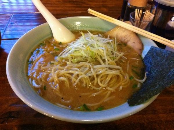 錦秋田本店 ネギ味噌ラーメン 麺の具合