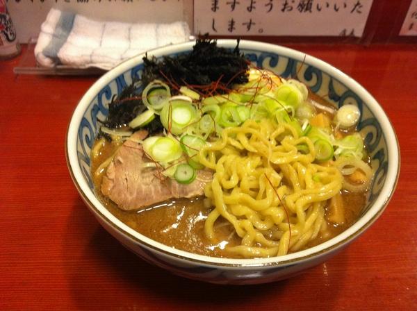 麺屋 十郎兵衛 濃厚かつお麺(大盛り) 麺の具合
