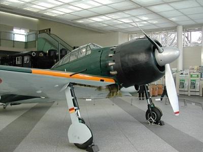 零式艦上戦闘機五二型(靖国神社就遊館蔵)