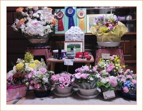 お花を沢山ありがとう