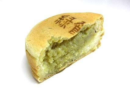 浅草焼本舗 三内霊園通り店 緑あん 断面