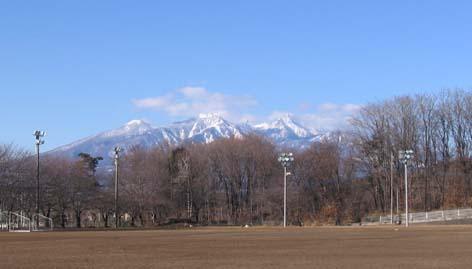 H250127八ヶ岳from明野中学校