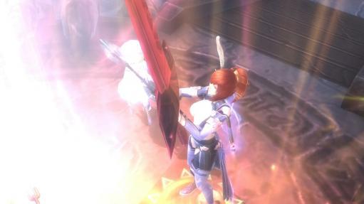 聖剣を抜くカトレア