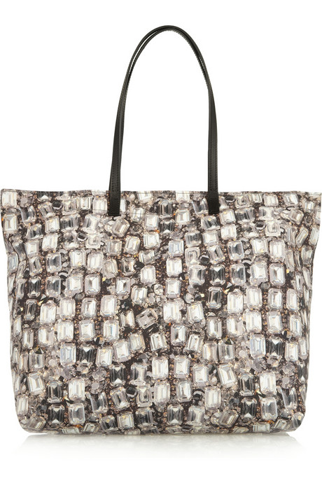 Lanvin Diamond print canvas tote 1