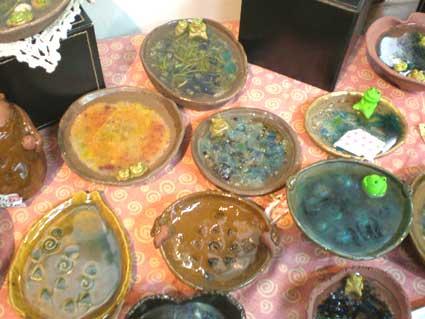 カエル池陶器
