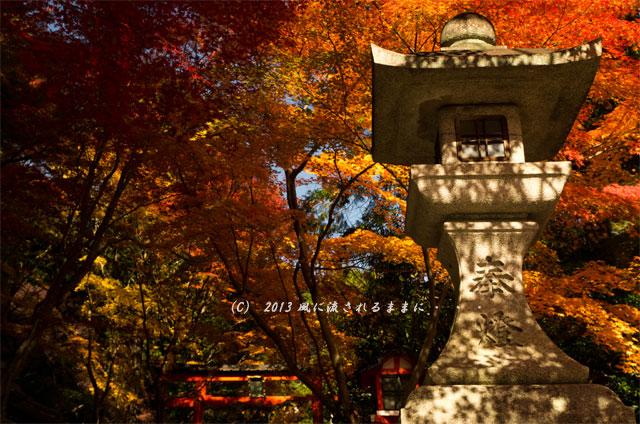 京都・落西 大野原神社の紅葉14