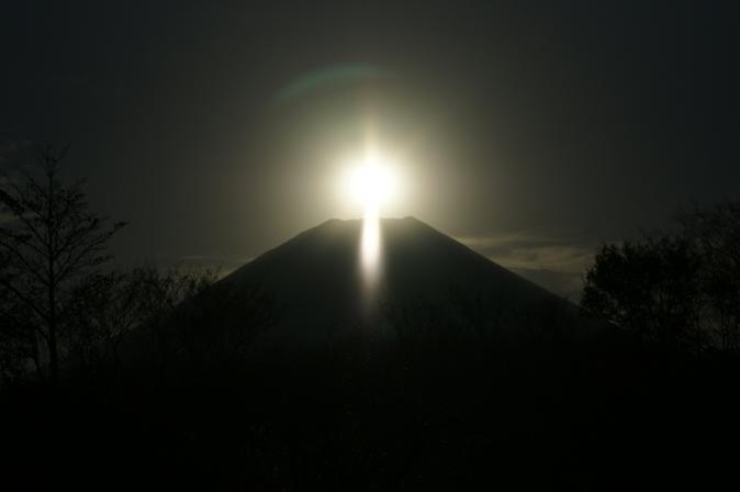 DSC08187朝日の富士