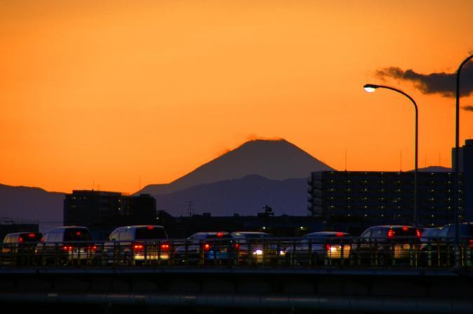 夕暮れ富士山1201
