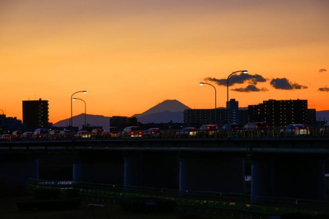 DSC09761夕暮れ富士山1201