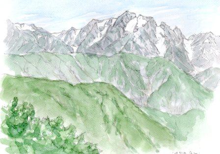 10071809爺ヶ岳から剱岳