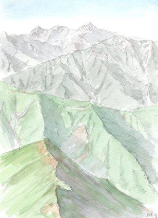 10071906鹿島槍ヶ岳から槍