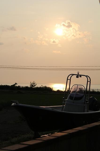 夕日とBF23