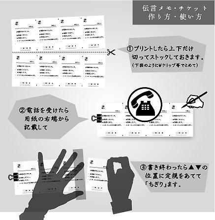 伝言メモ・チケット