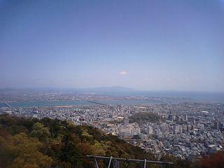 徳島市街を一望