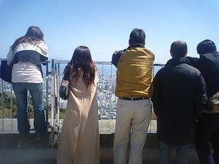 景色を見てる人たち