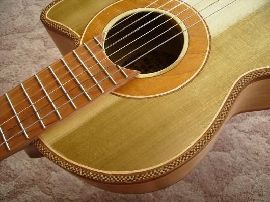 完成菊ギター第16号ロゼッタと市松逆様