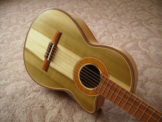 完成菊ギター第16号ボディー回転1