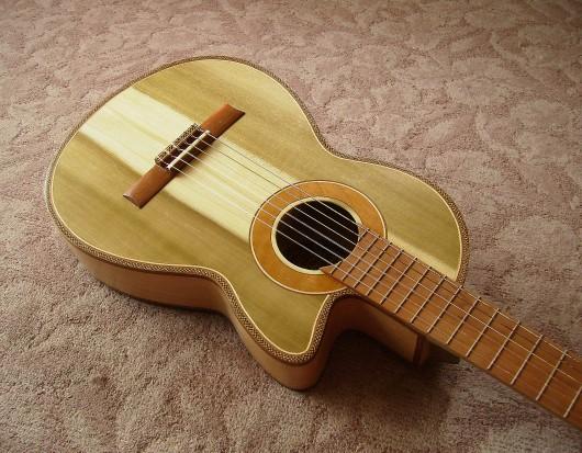 完成菊ギター第16号ボディー回転12